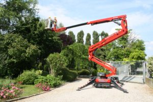 Tree Pruning Melbourne - A Crane Prunning a Tree in Melbourne Suburb